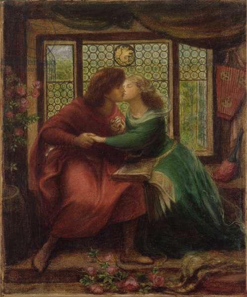 Paolo and Francesca da Rimini, 1867 (w/c on paper)