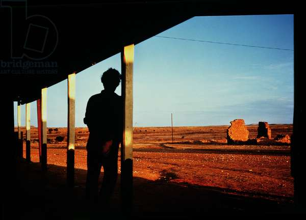Evening at Milparinka, NSW, 1963 (cibachrome colour photo)