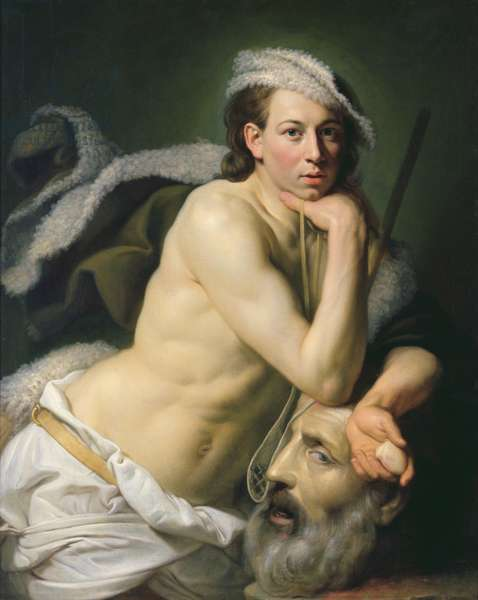 Self Portrait as David with the Head of Goliath, 1756 (oil on canvas)