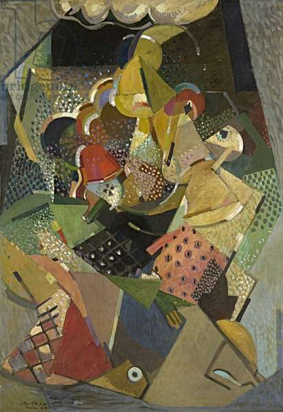 Acrobats, 1916 (oil on canvas)
