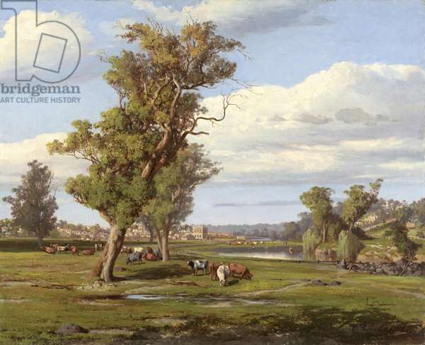The Yarra Valley, Melbourne, 1866 (oil on canvas on composition board)