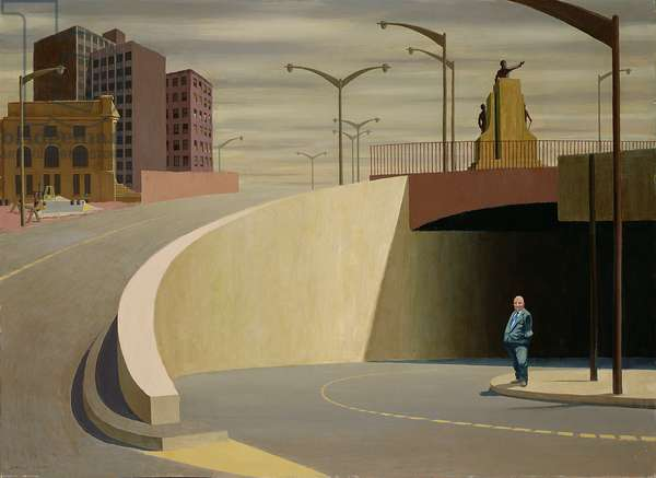 Cahill Expressway, 1962 (oil on plywood)
