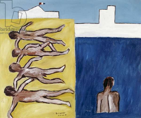 Bathers, 1942 (enamel paint on cardboard)