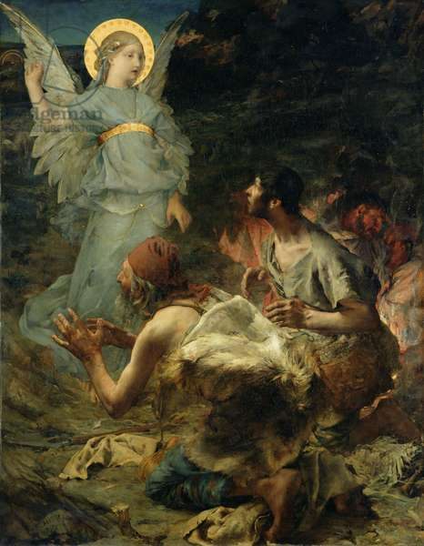The Annunciation to the Shepherds, 1875 (oil on canvas)