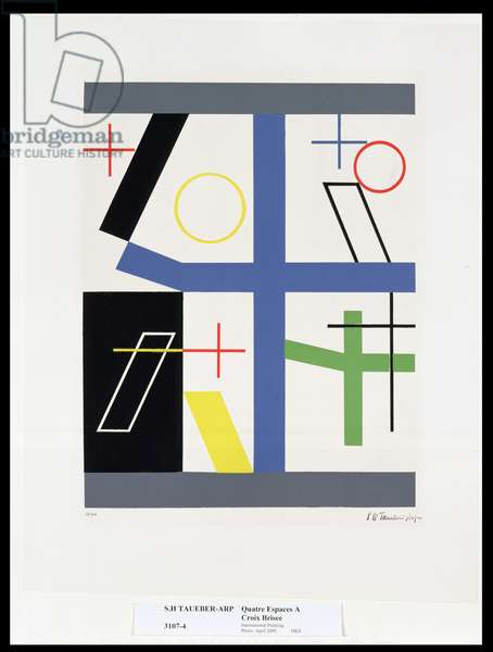 Four Spaces With Broken Crosses (colour silkscreen)
