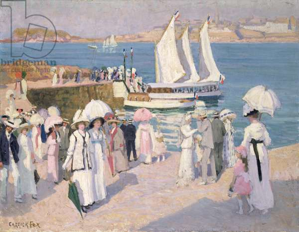 The Quay at Dinard, c.1911-12 (oil on canvas on plywood)