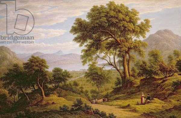 Ullswater, Cumberland, 1840 (oil on canvas)