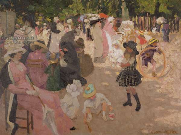In the Luxembourg Gardens, Paris, c.1908 (oil on canvas)