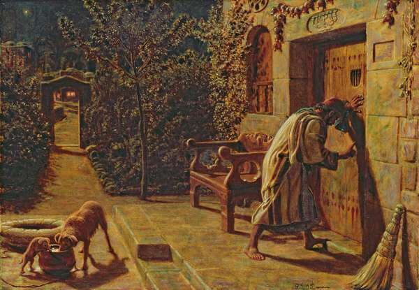 The Importunate Neighbour, 1895 (oil on canvas on wood panel)