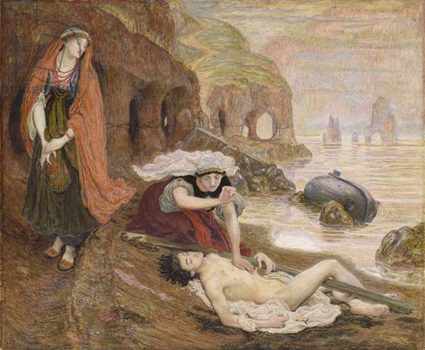 The Finding of Don Juan by Haidee, 1869 (w/c on paper) (see also 100704)