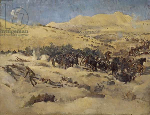 With the Light Horse in Egypt, 1918 (oil on canvas)