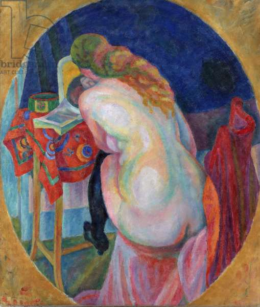 Nude Woman Reading, 1915 (oil on canvas)