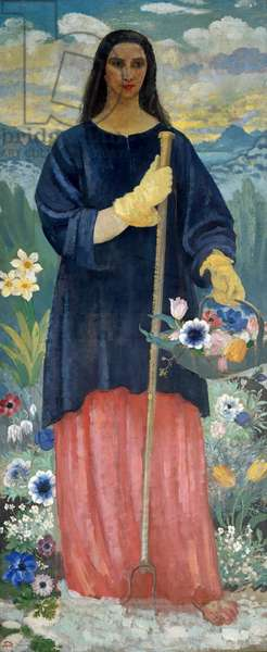 The Beautiful Gardener, c.1911 (oil on canvas)