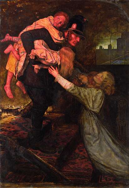 The Rescue, 1855 (oil on canvas)
