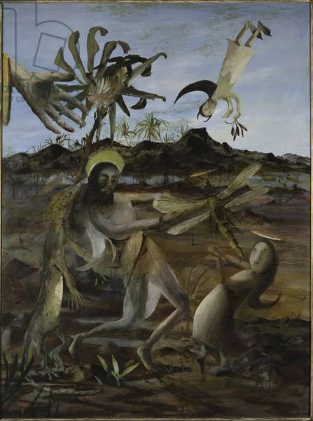 Temptation of St. Anthony, 1952 (oil & enamel on composition board)