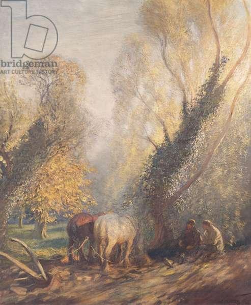 The Ploughman's Breakfast, 1905 (oil on canvas)
