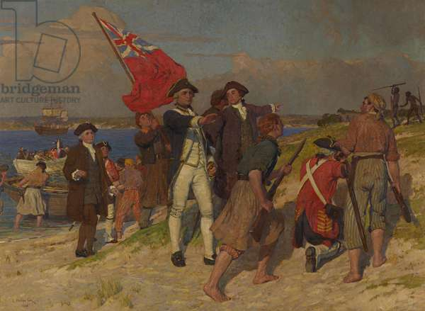 Landing of Captain Cook at Botany Bay in 1770, 1902 (oil on canvas)
