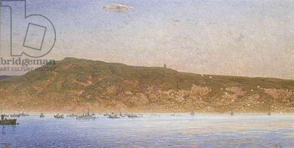 Landing at Anzac Cove, April 25th, 1915 (oil on canvas)
