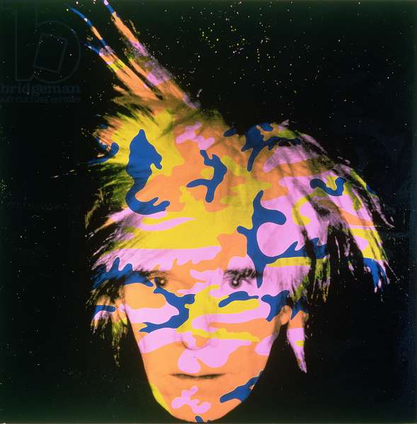 Self Portrait 9, 1986 (synthetic polymer paint & screenprint on canvas)