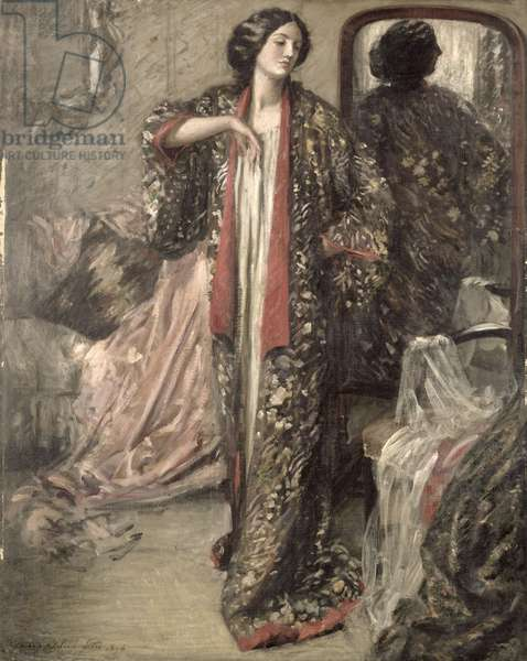 The Japanese Gown, 1896 (oil on canvas)