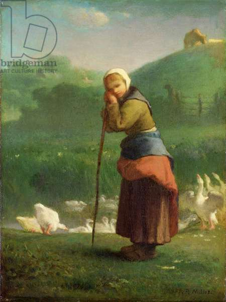 The Goose Girl at Gruchy, 1854-56 (oil on canvas)