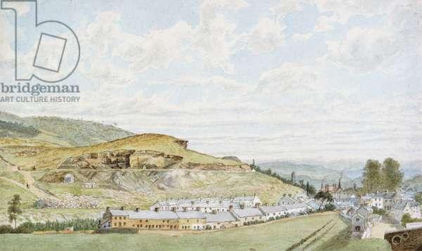 Pontypridd, 1855 (w/c over pencil on paper)