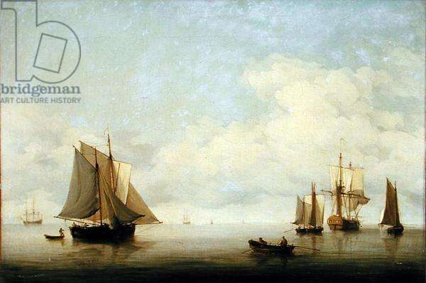Seascape with Shipping (oil on canvas)