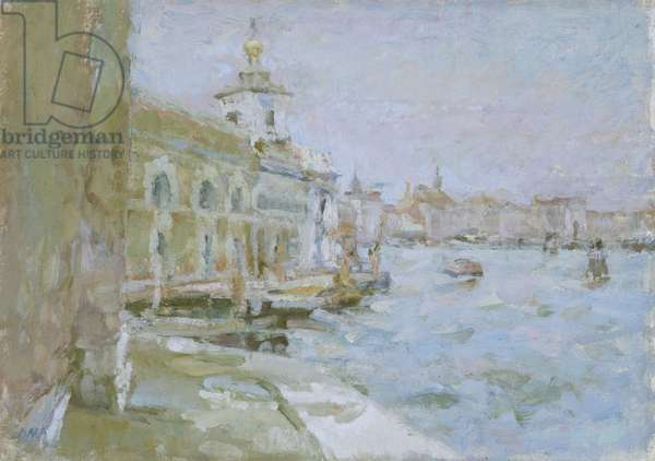 The Dogana, Venice, 1978 (oil on canvas)