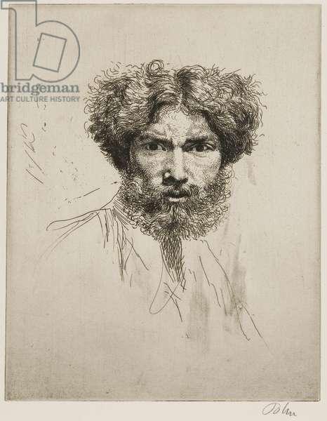 Portrait of the artist: 'Tete farouche', c.1900 (etching)