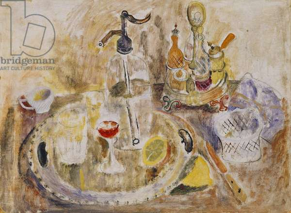 Syphon and Silver, 1930 (oil on board)