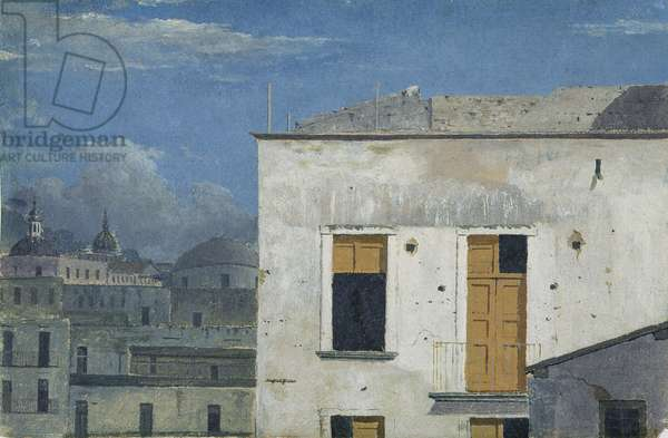 Buildings in Naples, 1782 (oil on paper)