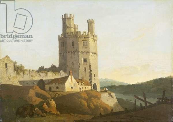 Caernarvon Castle, the Eagle Tower (oil on canvas)