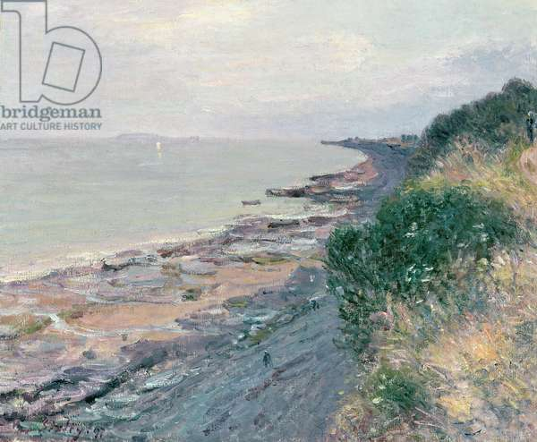 The Cliff at Penarth, Evening, Low Tide, 1897 (oil on canvas)