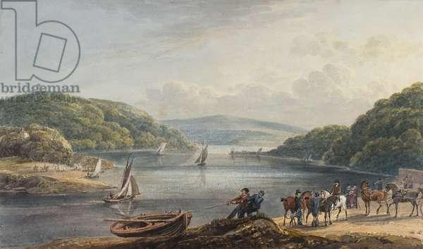 Briton Ferry, River and Church (w/c & pencil on paper)