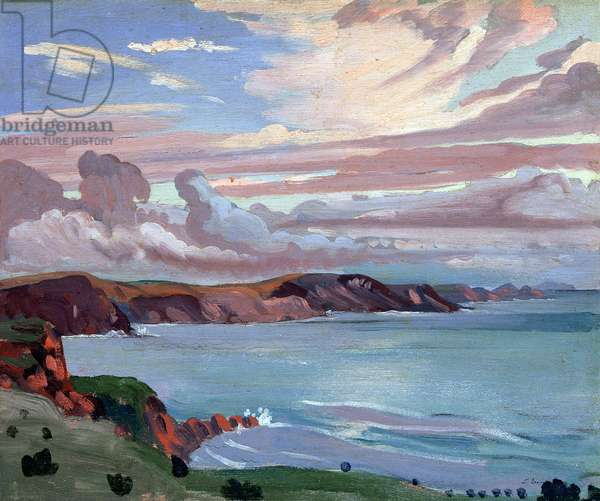 Pembroke Coast (oil on panel)