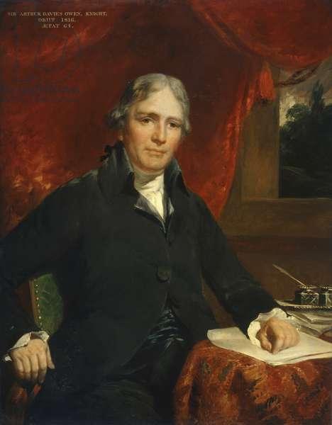 Sir Arthur Davies Owen, Knight, 1816 (oil on board)