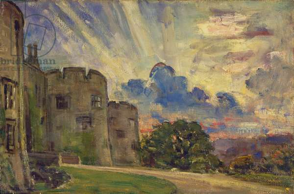 Chirk Castle (oil on canvas)