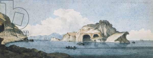 Gajola, near Naples, 1778 (pencil & w/c on paper)