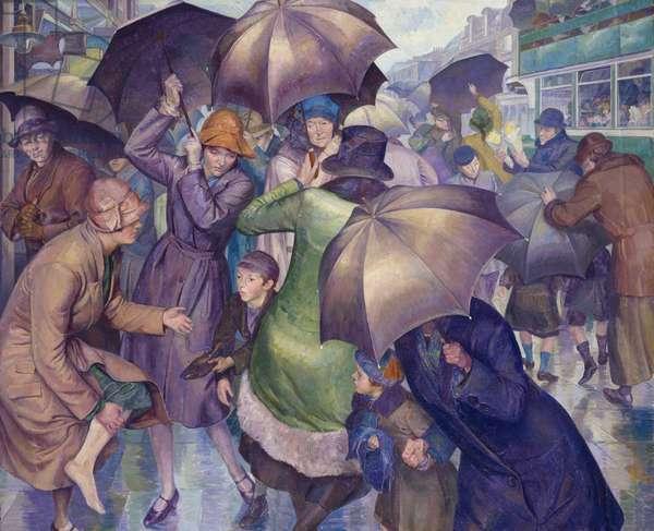 The Street, 1927 (oil on canvas)