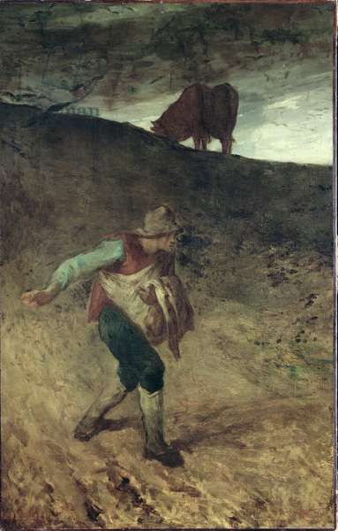 The Sower, 1847-48 (oil on canvas)