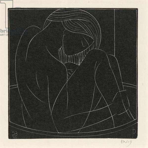 Girl in the Bath, 1923 (woodcut)