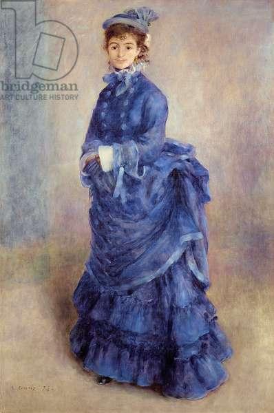 La Parisienne, The Blue Lady, 1874 (oil on canvas)