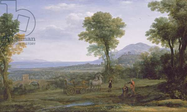 Landscape with St Philip Baptising the Eunuch, 1678 (oil on canvas)