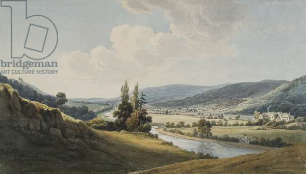 The Vale of Neath, Melincourt on the Right (w/c & pencil on paper)