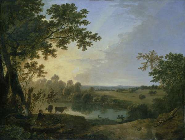 View in Windsor Great Park, early 1760s (oil on canvas)