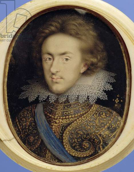 Miniature portrait of Henry (1594-1612) Prince of Wales (w/c on vellum)