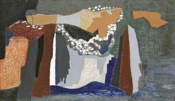 Coast of Pembroke, 1938-40 (oil on canvas on board)