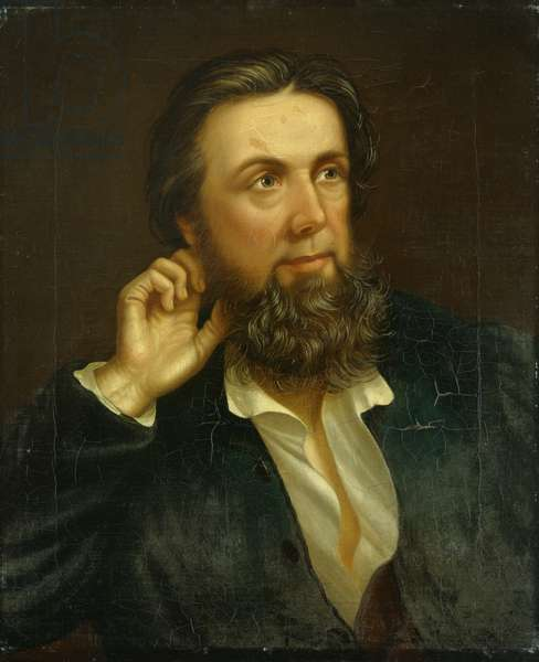 John Jones (Talhaiarn) 1846 (oil on canvas)