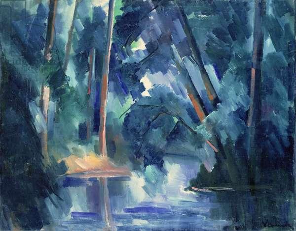 Trees (oil on canvas)