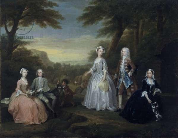 The Jones Family Conversation Piece, 1730 (oil on canvas)